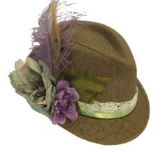 Neutral, but edgy Brown Bavarian Hat -- From Rare Dirndl / RareDirndl.com