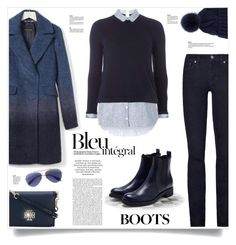"""""""Rupert Sanderson Chelsea Ankle Boots"""" by kiki-bi ❤ liked on Polyvore featuring Banana Republic, Dorothy Perkins, Anja, Tory Burch, Rupert Sanderson, Loro Piana, Alexander McQueen, Blue, BlueBoots and chelseaboots"""
