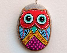 These lovely pendants are unique with their design. I paint and draw all of my original designs by hand with the acrylic paints, small brushes or paint pens with extra fine tip. I use also different inks. No stencils are used. All designs are created with my imagination. They are protected with 2 or 3 layers of high quality acrylic varnish coat and are signed on back . For pendants its not recommended wearing them in the shower or pool. Please use caution when wearing around sharp objects as…
