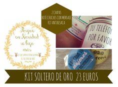 KIT Navideño SOLTERO de oro Cover, Gold, Messages, Presents, Xmas