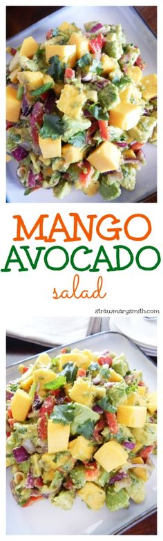 A filling lunch for two or a colorful side dish for your barbecue, this juicy Mango Avocado Salad will have everyone drooling for seconds! #contest