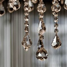 glittering - looks like the crystals on my linear chandelier i have in my kitchen!