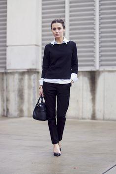 Classic style. Navy + black + white