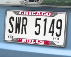 "NBA - Chicago Bulls License Plate Frame 6.25x12.25 - License plate frames are a great way to accessorize your vehicle and show off your team pride. Real chrome metal keeps them looking great season after season. Eye-catching team name and logo in true colors. Fits perfectly around license plates without covering your registration sticker (if applicable). Size is 12.25"" x 6.25"".FANMATS Series: LICPLATEFRAMETeam Series: NBA - Chicago BullsProduct Dimensions: 6.25""x12.25""Shipping Dimensions…"