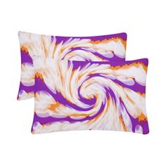Purple Orange Tie Dye Swirl Abstract Custom Pillow Case (One Side) (Set of Orange Tie, Custom Pillow Cases, Colorful Pillows, One Sided, Decorative Pillows, Designer, Tie Dye, About Me Blog, Tapestry