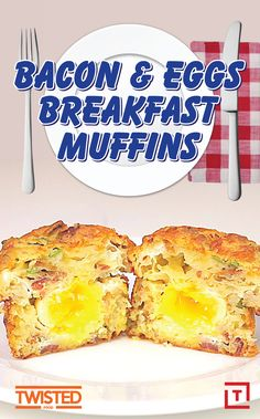 Twisted knows mornings can be rough, but with a little help from these bacon and egg breakfast muffins, you'll be ready to take on anything. Made with eggs, cheddar cheese, bacon, and scallions, you'll never skip the most important meal of the day again.