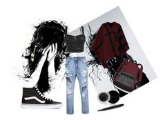 """""""Don't let sadness take over"""" by beckswow ❤ liked on Polyvore featuring Magdalena, Burberry, Vans, Mary Kay, Victoria's Secret and Jennifer Zeuner"""