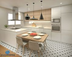 32 Open Concept Kitchen Room Design Ideas for Dummies - homemisuwur Open Plan Kitchen Living Room, Kitchen Room Design, Kitchen Cabinet Design, Modern Kitchen Design, Kitchen Layout, Home Decor Kitchen, Interior Design Kitchen, Dining Room, Open Kitchen