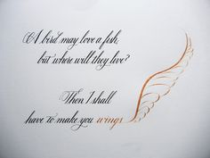 """Enjoy a quote from one of my favorite movies, """"Ever After,"""" in which the Damsel in Distress proves she is more than capable of rescuing Prince Charming. Copperplate Calligraphy, Modern Calligraphy, Carolingian, Damsel In Distress, Prince Charming, Ever After, Happy Valentines Day, Lettering, My Favorite Things"""