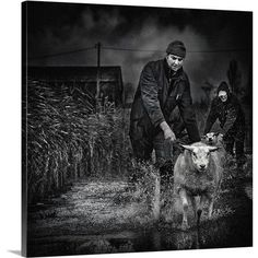 Canvas On Demand Escape from the Flood by Piet Flour Photographic Print on Canvas Size: