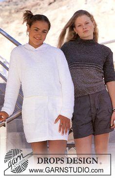 "Mellény! DROPS Children 8-15 - DROPS Pulli in ""Cotton Frisé"" - Free pattern by DROPS Design"