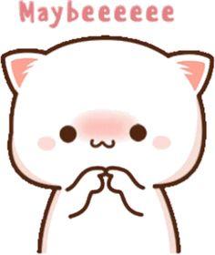 Cute Doodles Drawings, Cute Bear Drawings, Cute Gif, Funny Cute, Mochi, Chibi Cat, Cute Cartoon Pictures, Cool Stickers, Cute Girl Outfits