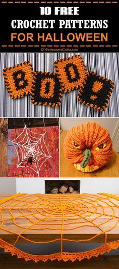 "diytotry: ""  10 Free Crochet Patterns for Halloween! → """