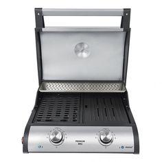 BBQ grill Öntöttvas grill-lap  Dupla termosztát Extra nagy méret Low-fat technológia Max. 300°C