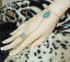 Slave Bracelet Adjustable Ring Turquoise by MelekDesigns on Etsy