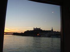 Night transport in Bratislava - Eastern Europe Expat Bratislava, Eastern Europe, Taxi, Transportation, Public, River, Sunset, Night, Places
