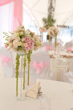 wedding centerpiece pink свадьба париж композиция на стол гостей