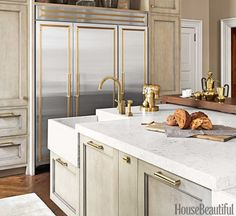 Kitchen Brass Hardware Accents On Cabinets And Appliances Hb November 2014 Designer
