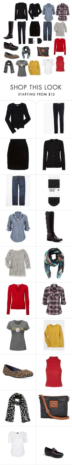 """""""Packing with a twist"""" by tah0027 on Polyvore featuring Aéropostale, Madewell, Thierry Mugler, Lands' End, Levi's, H&M, Silver Jeans Co., Sole Society, Rafé New York and Vero Moda"""
