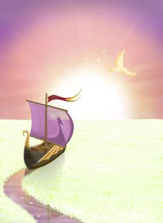The Dawn Treader by <~Narnia-club on deviantART> sailing on the silver sea. Lake of drinkable light. Chronicles Of Narnia Books, Lunar Chronicles, Narnia Wallpaper, Power Rangers, The Magicians Nephew, Cair Paravel, Narnia 3, Prince Caspian, Avengers