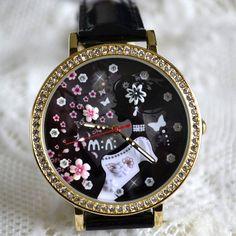 MINI hodinky - Tajemná Watches, Leather, Accessories, Wristwatches, Clocks, Jewelry Accessories