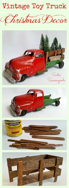 Sadie Seasongoods: Vintage Antique Toy Truck Christmas Holiday Decor