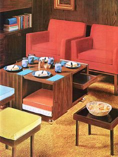 Dual purpose furniture. 1970's