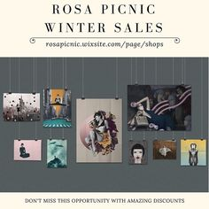 ROSA PICNIC  WINTER SALES  DON'T MISS THIS OPPORTUNITY WITH AMAZING DISCOUNTS   Rosa Picnic | Art | Gift Ideas | Decor | Wall Art | Collage | Accessories | Home Decor | Clothes