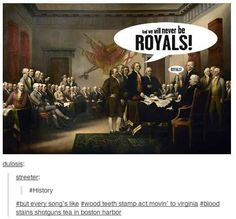 The signing of the American Constitution.   17 Ye Olde Things Explained By Tumblr