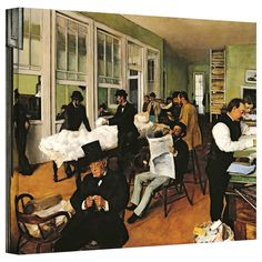 'The Cotton Office, New Orleans' by Edgar Degas Gallery-Wrapped on Canvas
