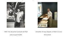 Foto del primer contrato de Raül y Raül 25 años después en su trabajo actual Duster Coat, Photos