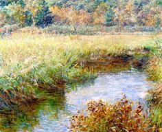 Art classique American Impressionism, Museum Of Fine Arts, Landscape Paintings, Landscapes, Landscape Art, Figure Painting, American Artists, Oil On Canvas, Poster Prints