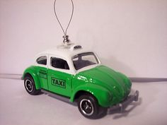 1962 volkswagen beetle taxi Christmas Tree Ornaments