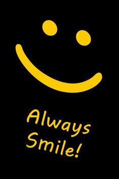 Always Smile 😃 Crazy Wallpaper, Smile Wallpaper, Words Wallpaper, Cartoon Wallpaper Iphone, Wallpaper Quotes, Wallpaper Pictures, Always Smile, Just Smile, Smile Smile