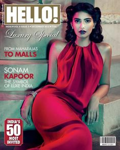 Sonam Kapoor on the cover of Hello India Magazine December 2012 Issue