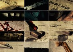 Sherlock Holmes end credit sequence | Art of the Title