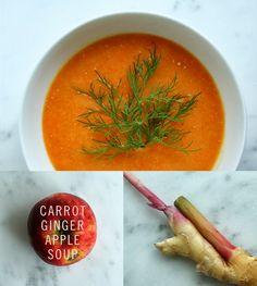 Carrot ginger apple soup