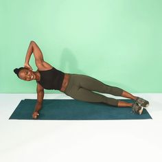 Side Planks With Knee Drives — 10 reps each side