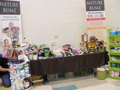 #NatureBumz table at the NOTL #NiagaraCollege Many Hands for Many Moms Family Marketplace!  <3 www.naturebumz.com