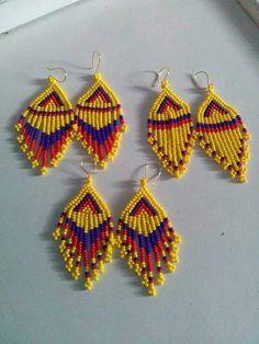Seed Bead Jewelry, Seed Bead Earrings, Diy Earrings, Beaded Jewelry, Native American Earrings, Native American Beading, Beaded Earrings Patterns, Jewelry Patterns, How To Make Earrings