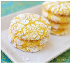 Lemon Burst Cake Mix Cookies ~ delicious