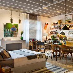 "Ambiente ""Loft Campo"" criado por Paola Ribeiro para Casa Cor SP 2016! Confira…"