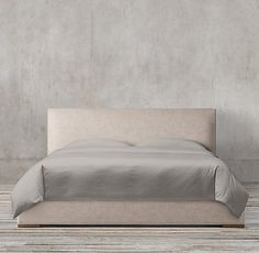 """King Lawson Panel Non-tufted Fabric Platform Bed $1,721, 80""""W 85""""D 44""""H"""