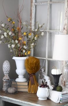 rustic neutral fall decor