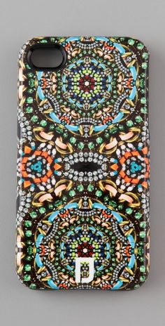 faux jeweled iphone case by dannijo