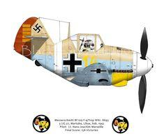 Messerschmitt Bf 109 F-4 Marseille | by blackheartart ~ BFD