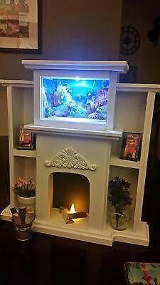 American girl aquarium and fireplace