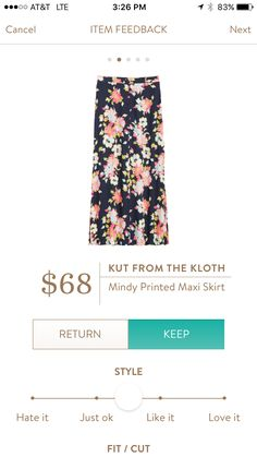 Stitch fix KFTK skirt.  Very pretty in person but had fit issues and sent back.
