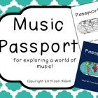 This musical passport is a great way to engage students as you listen to music from around the world.    The passport contains an introduction page...