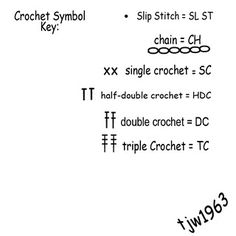 Crochet Symbol Chart